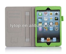 High Quality leather Stand handle holder Case for iPad mini 1 2 3 with card slots