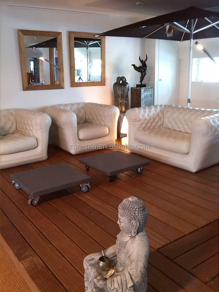 Plastic inflatable living room sofa portable folding air sofas set