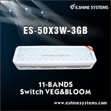 E.shine manufactured Diamond series LED grow lights 100W/50x3W with Veg. & Bloom switches for medical plants grow