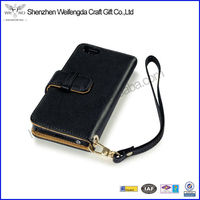 For iPhone5 Wallet Leather Case With Credit Card Slot With Stand Holder