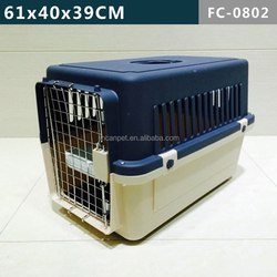 Airline Approved Plastic Dog / Cat Pet Kennel Carrier or Air Travel with Chrome Door and Free Cup Foldable Dog Travel Crate