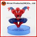 الترويجية 3d البلاستيك السوبر لعب تمثال الرجل العنكبوت