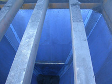 Uhmwpe truck bed liner / azul / preto uhmwpe chute forro