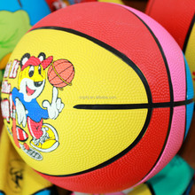 Top level new products mini rubber basketballs no 3