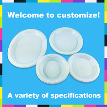 Color disposable hot food plastic plate wholesale