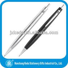 2014 promotional the newst logo printing metallic click ballpoint pen