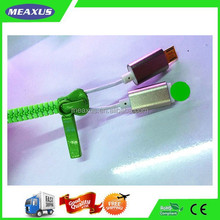 Portable Zipper Shaped USB Phone Cable, Designed for Micro 5 pin Devices and Ip6/5s/5c/5