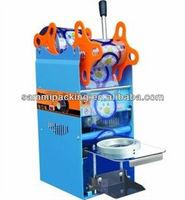2015 Juice cup manual sealing machine,automatic plastic cup sealing machine for milk tea/juicer/bubble tea