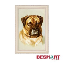 modern decorative animal painting printed on canvas with frame for home wall decoration