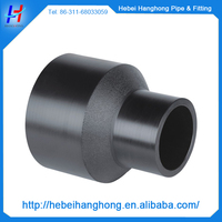large plastic pipe fitting eccentric reducer