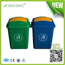 High Quality Plastic household products Flip Top can opener Indoor dustbin logo used for toilet 20l waste container home usage