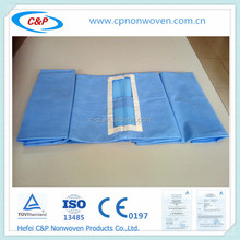 Cheap and fine reinforced medical abdominal drape for hospital/clinic, medical abdominal drape with CE certification