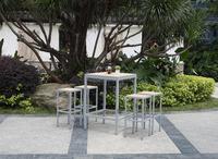 Aluminum polywood bar table chair set, outdoor cheap bar setting