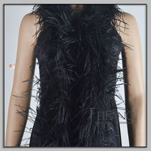 Sexy black ostrich feather boa for party