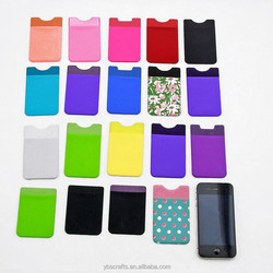 3m microfiber silicone cell phone sticker case card holder