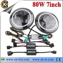 7 inch round jeep wrangler led lights with led halo ring jeep headlight
