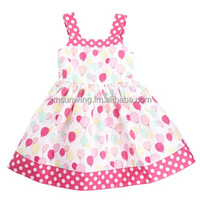 Sunwing pink polka dot lovely sweet girl dress with wide shoulder straps size 2-10 years