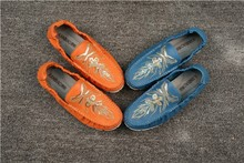 Calf Skin Loafers/ New Style man flat leather shoes/ Genuine Leather Shoes For men