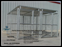 6x10x6 cheap portable dog kennels (hot galvanized or colored)