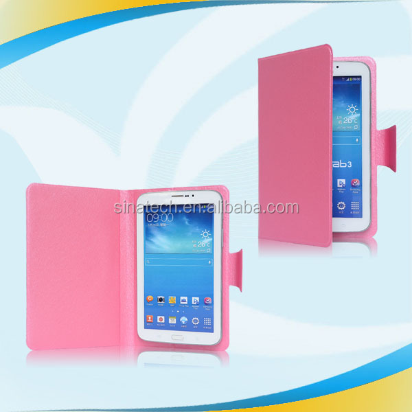 with auto sleep wake function leather case for samsung tablet p1000