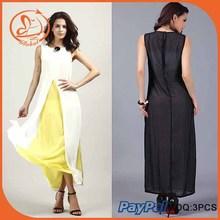 Wholesale fashion design white and black women dress