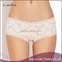 Lace sexy transparent boyshort panty for girls