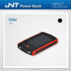 Wholesale rechargeable dual USB solar power bank charger for mobile devices NP026