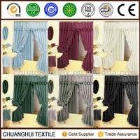 2013 TOP SELL ! Diamond Pattern Fabric Double Swag Shower Curtain with Tiebacks Hooks