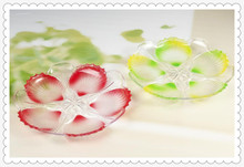 Nice Design Plate Material Crystal Fruit Christmas Plate