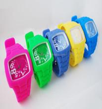 Hot sale new fashion designer sports brand silicone watch multi-colors quartz watch for women men