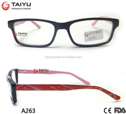 2016 fashionable acetate optical frame high quality with CE&FDA approval A263