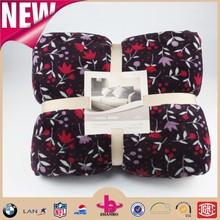 Shu velveteen and coral fleece fabric 2 in 1 flower printing heated sherpa blanket/manta de lana de coral blankets