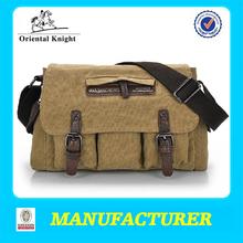 high class student school bag canvas school bag,messenger school bag