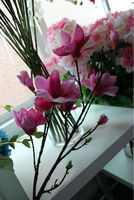 artificial single big head magnolia flowers decoration of houses interior