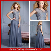 ME-127 Stunning two pieces design vintage style mother of the bride dress 2012