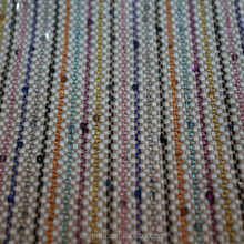 50 inch stripe colorful woven braided sequin PP raffia fabric for shoes and bags