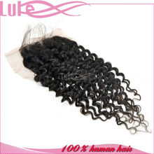 100% Virgin Human Hair Mongolian Kinky Curly Hair Top Lace Closure