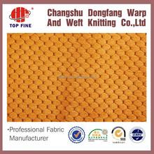 comfortbale honey comb ,waffle knit fabric, 100% polyester jacquard fabric