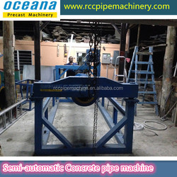Roller Suspension concrete pipe making machine, rcc spun pipe making machine