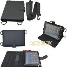 10.1inch universal tablet case pu leather neck /shoulder strap LOGO custom shenzhen