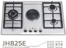 Multiple Cooktops gas stove with stainless steel panel