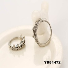 2015 Extraordinary famous diamond princess crown ring wholesale