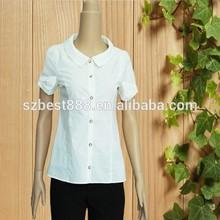 Stain manga corta camisa mujer blusa