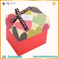 colorful Chrismas gift box for kids carry paper packaging box