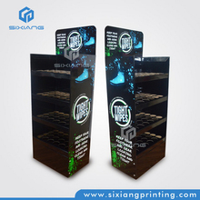 Personalizados a todo color de impresión de tienda al por menor de cartón pop pantalla de papel para equipos de supermercado