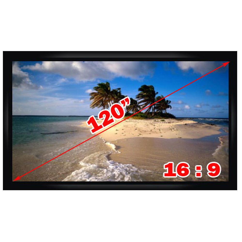 Top Quality 120 Inches Motorized Projection Screen 16 9