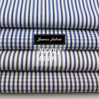James 100% Cotton Yarn Dyed Carbon Peaching Stripe/Check/Plaid Shirting Fabric