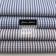 James 100% Cotton Yarn Dyed Carbon Peaching Stripe/Check/Plaid Shirting Fabric