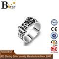 alibaba site 925 jóias de prata correia em forma de anel de fantasia para o menino