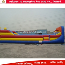 Funny inflatable bungee run with basketball shooting,bungee run challenge inflatable,inflatable 2 lane bungee run